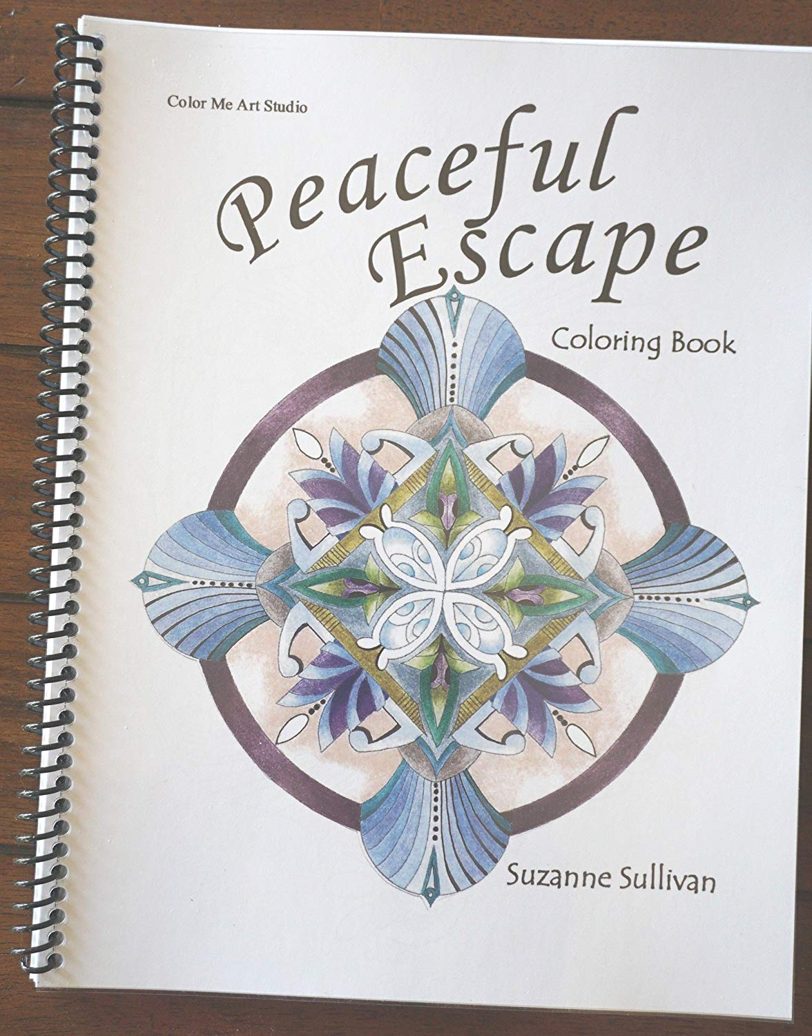 Amazon Com  Spiral Bound Coloring Book With Mandala's, Zendoodle