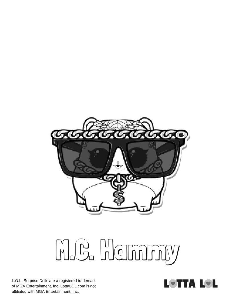 Mc Hammy Coloring Page Lotta Lol