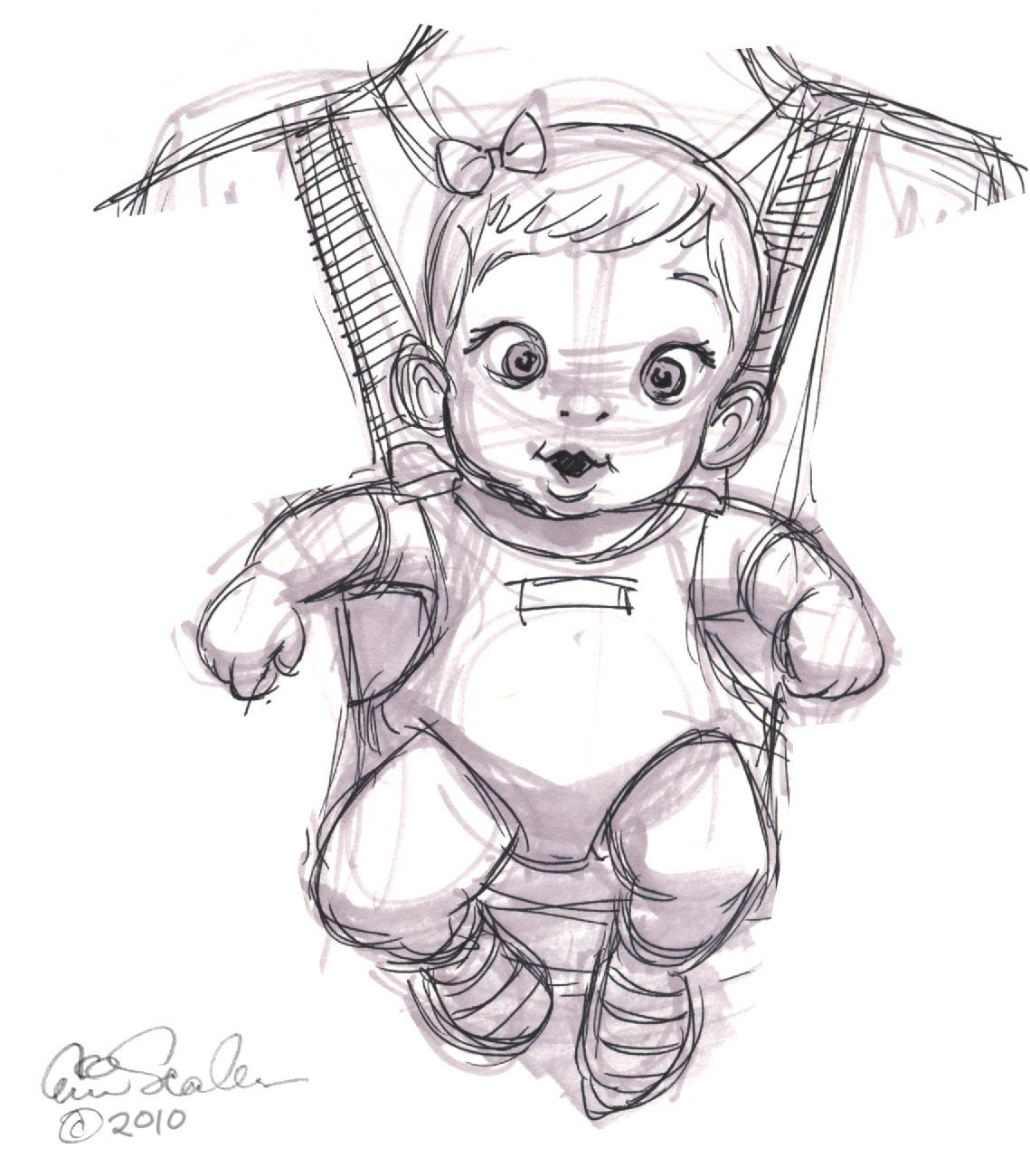 How To Draw A Baby Girl