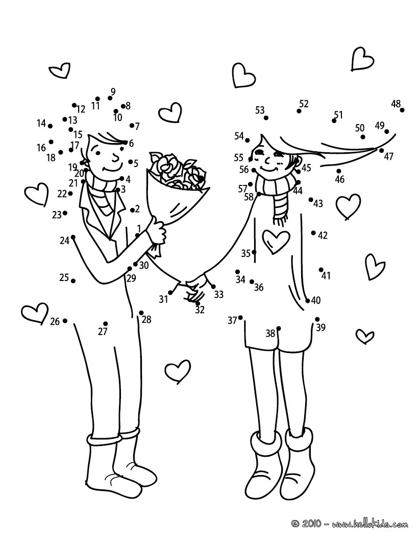 Valentine's Day Dot To Dot Games