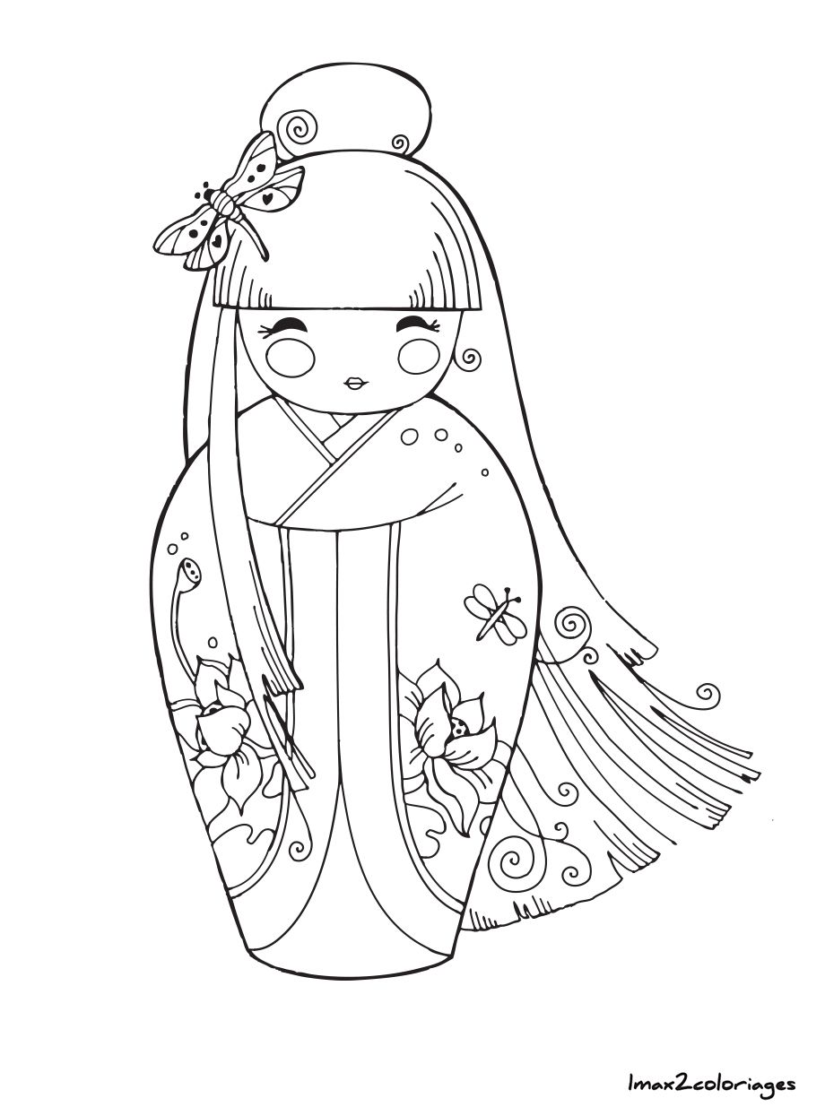 Icolor  Kokeshi Dolls  Etc Etc  Poupee Japonaise Numero 6