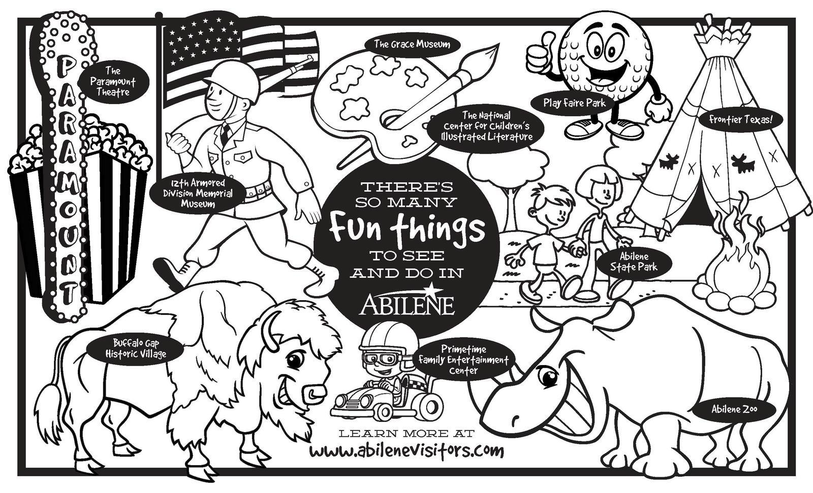 Abilene Children's Coloring Book
