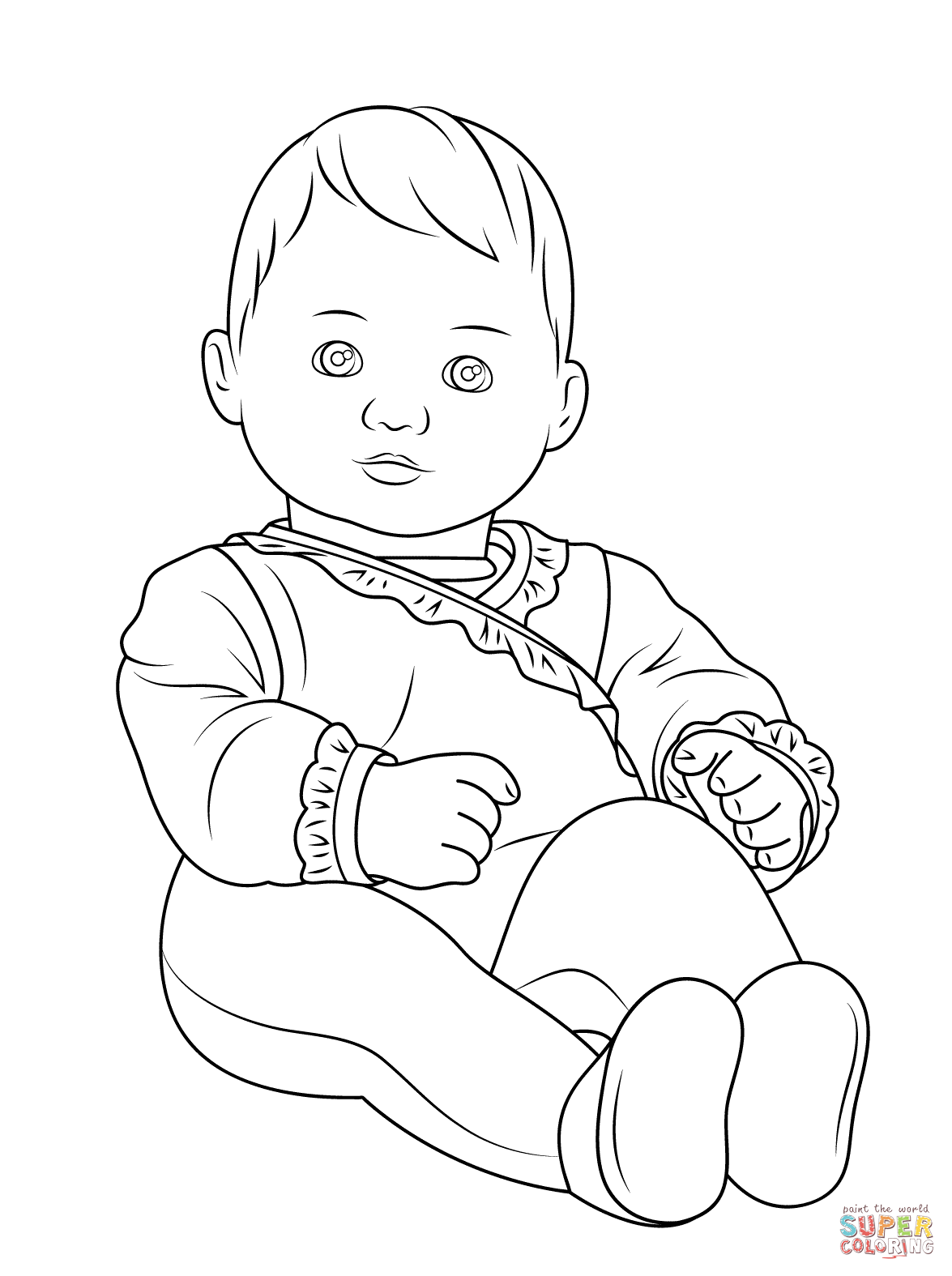 Coloring Pages ~ American Girl Bitty Babyloring Page Pages Doll