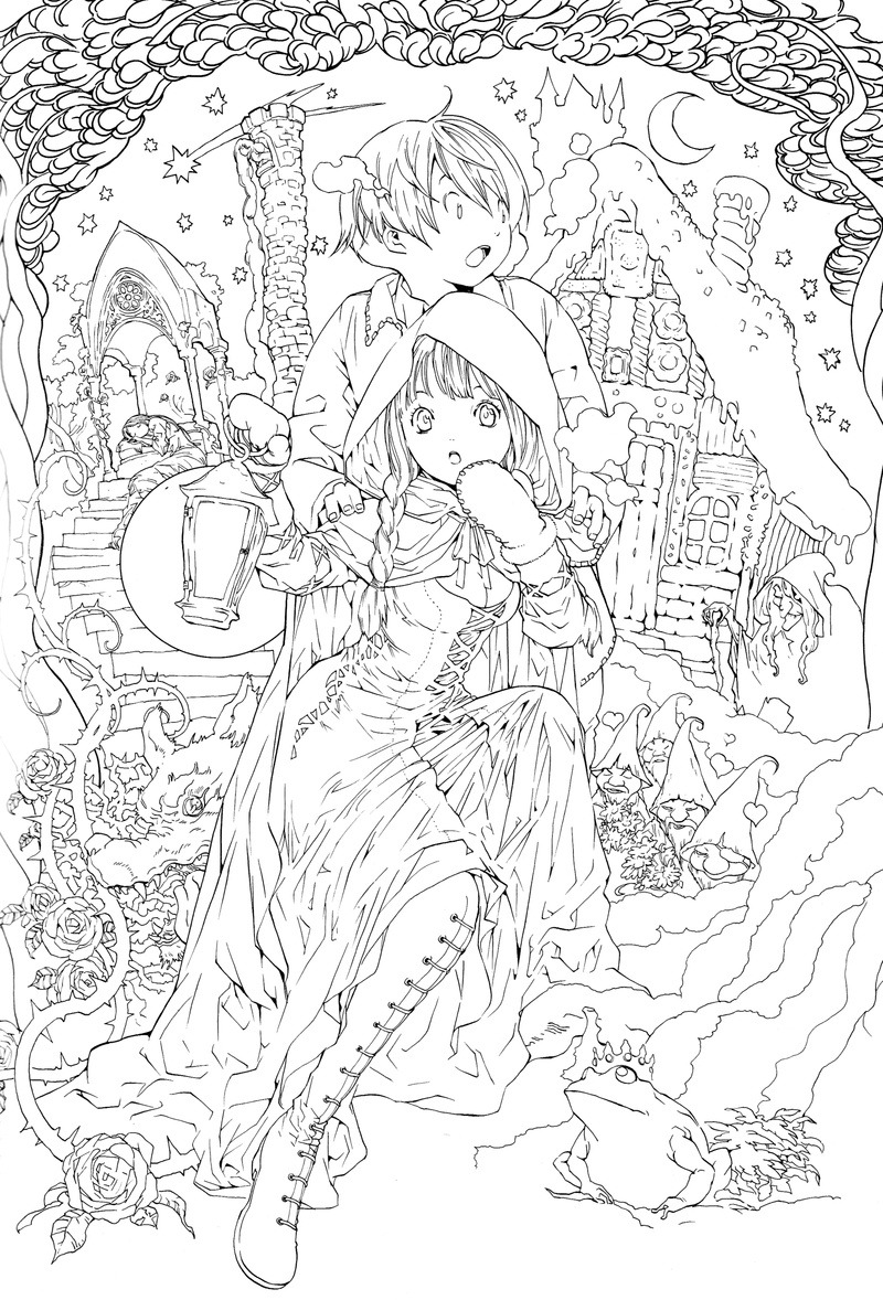 Anime Coloring Books For Adults