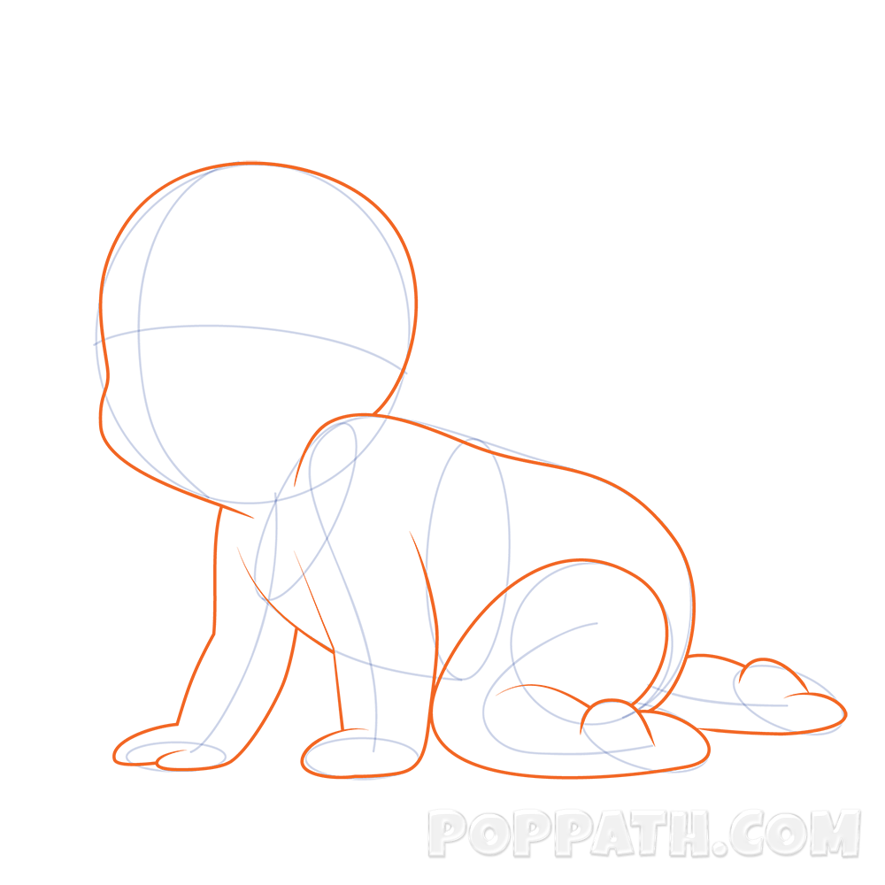 How To Draw A Baby Crawling – Pop Path