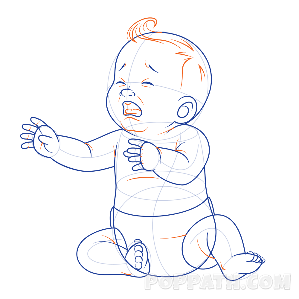 How To Draw A Baby Crying – Pop Path