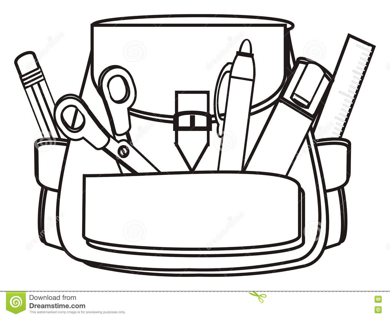Back To School Stock Illustration  Illustration Of Items