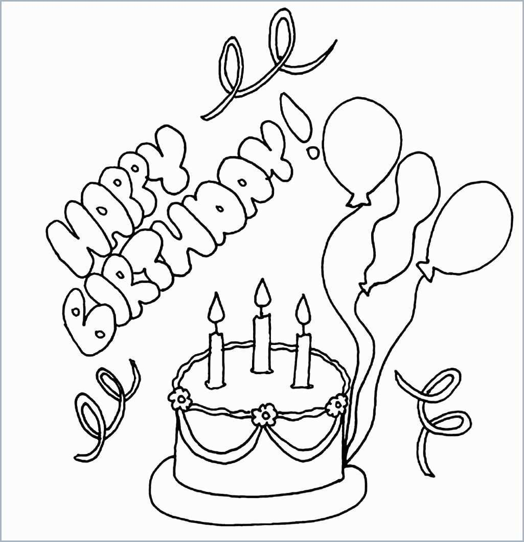 Coloring Pages ~ Birthday Cake Coloring Pages For Preschoolers