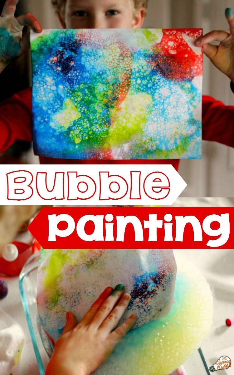 Bubble Painting With Dry Ice Steam Activity For Kids • The Science