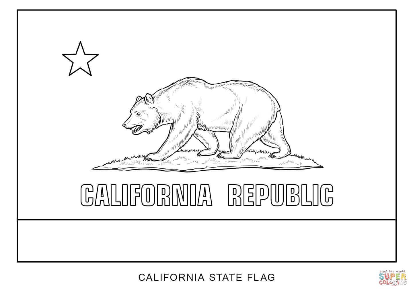 California State Flower Coloring Page