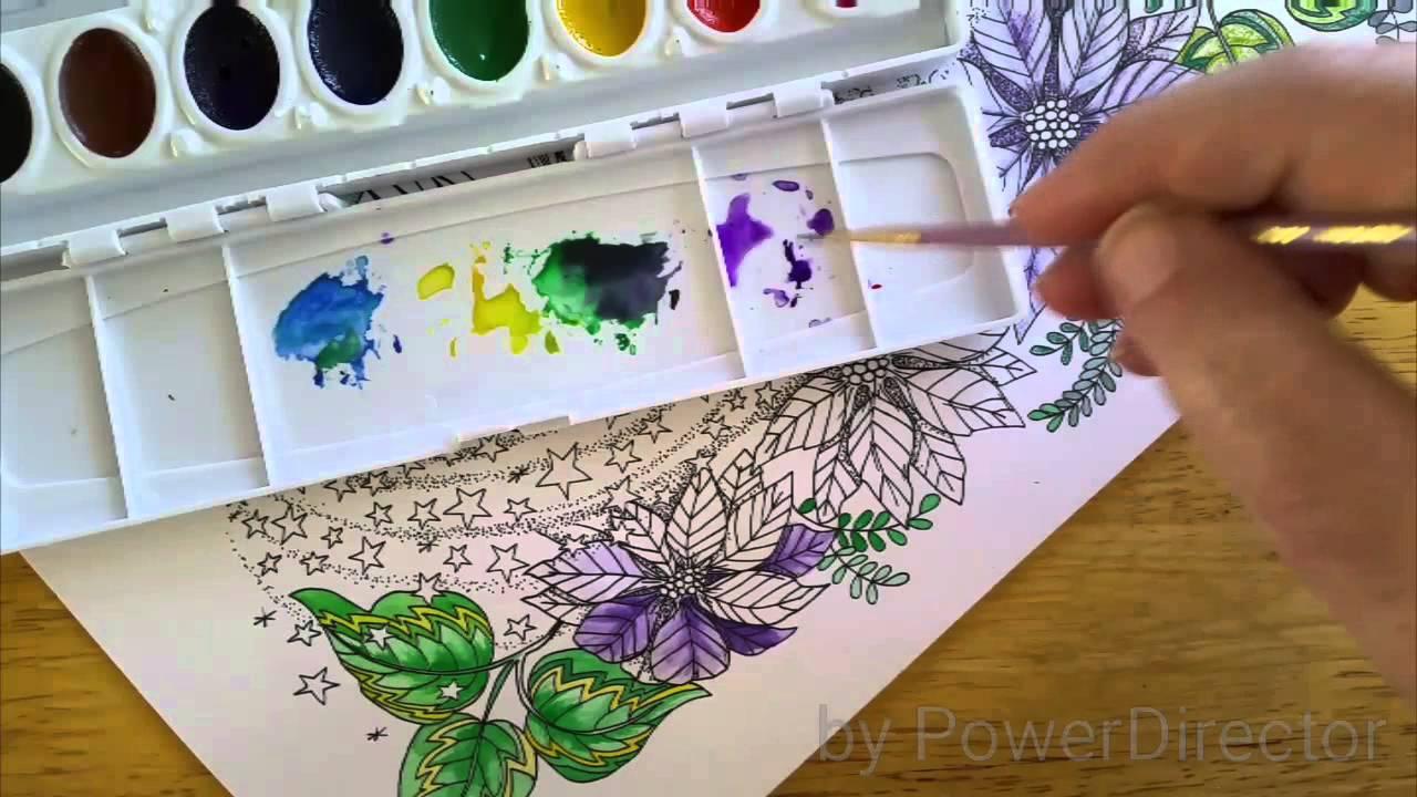 Watercolor Coloring Books 5040