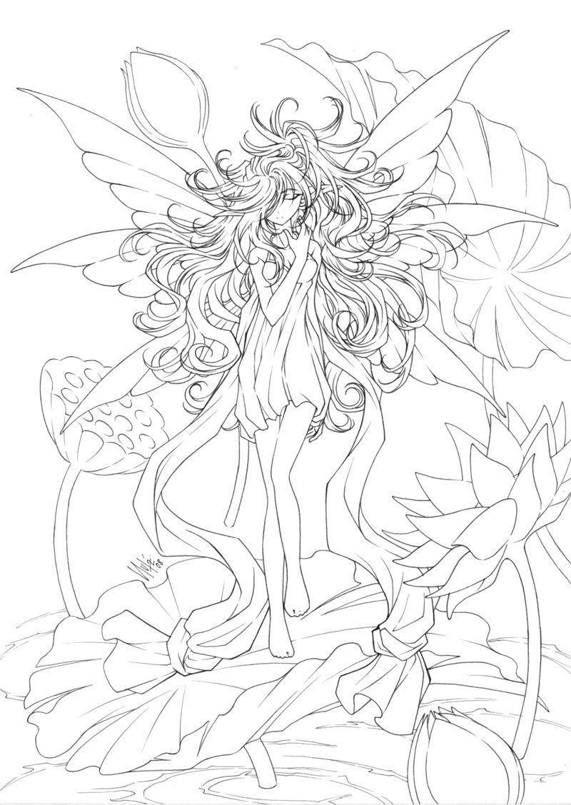 Coloring Pages ~ Coloring Pages Animek Online Adult Free Fairy