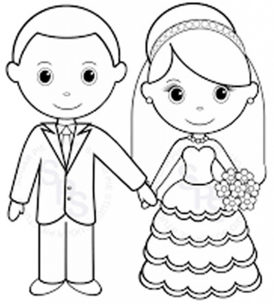 Coloring Pages ~ Free Printable Weddingoloring Pages Kids For To