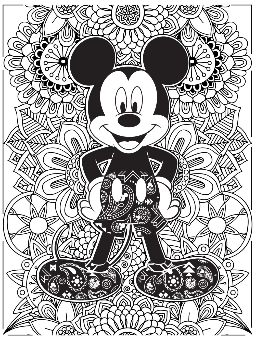Coloring Pages ~ Coloringbook Lineart Mickeymouse Coloring Pages