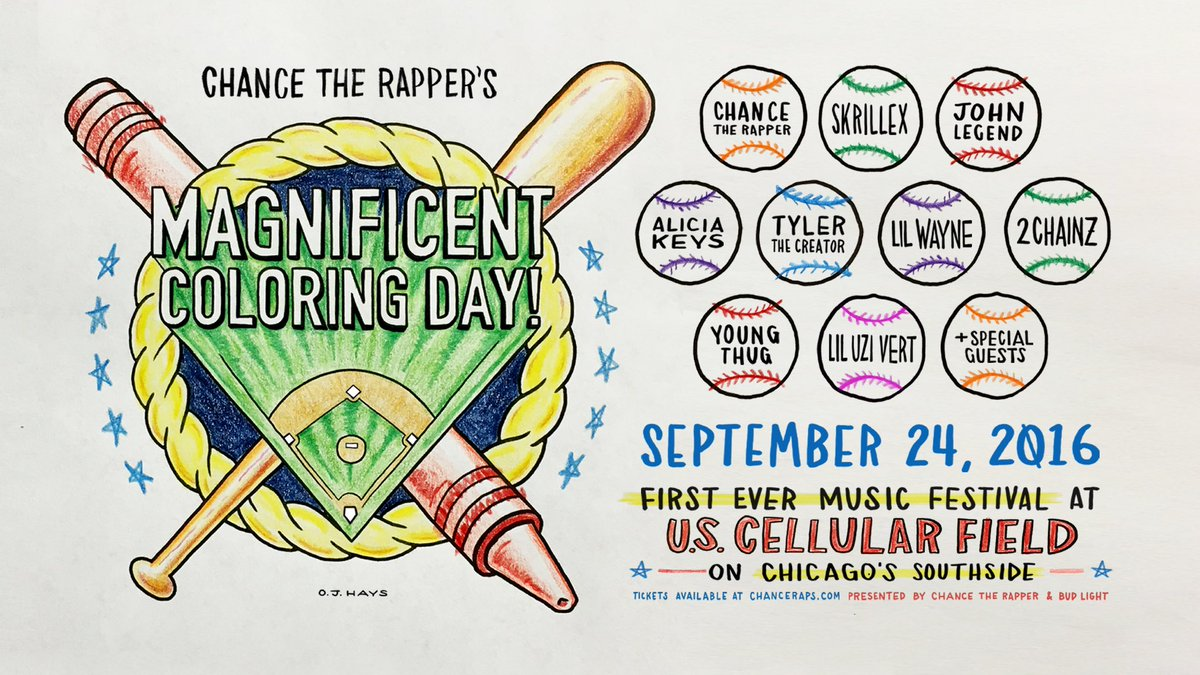 Chance The Rapper Announces 'magnificent Coloring Day'
