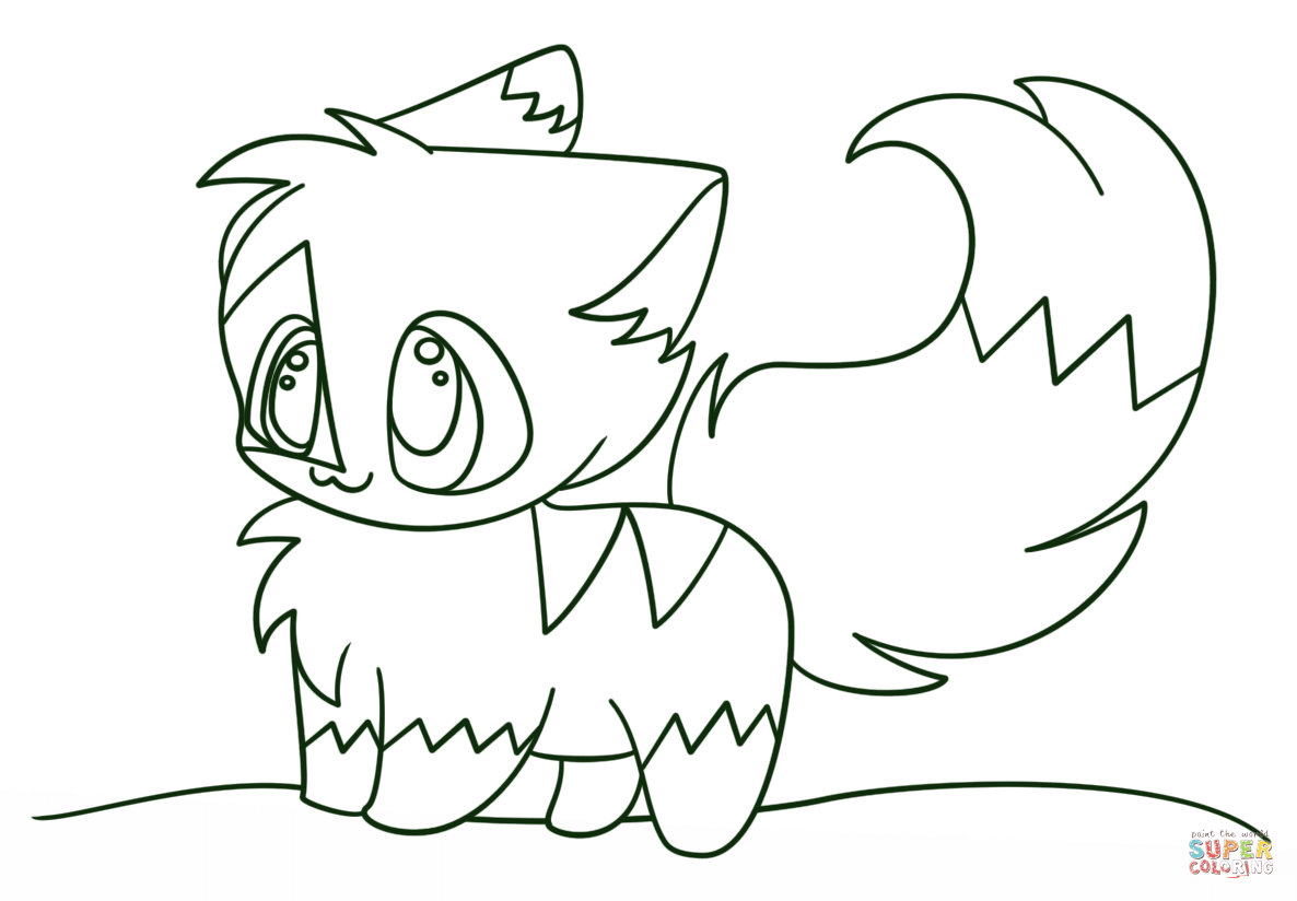 Cute Anime Cat Coloring Pages 1186×824 Attachment