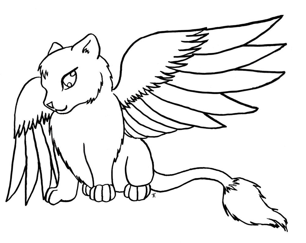 Cute Anime Cat Coloring Pages Download Page Of Cats 6 Futurama Me