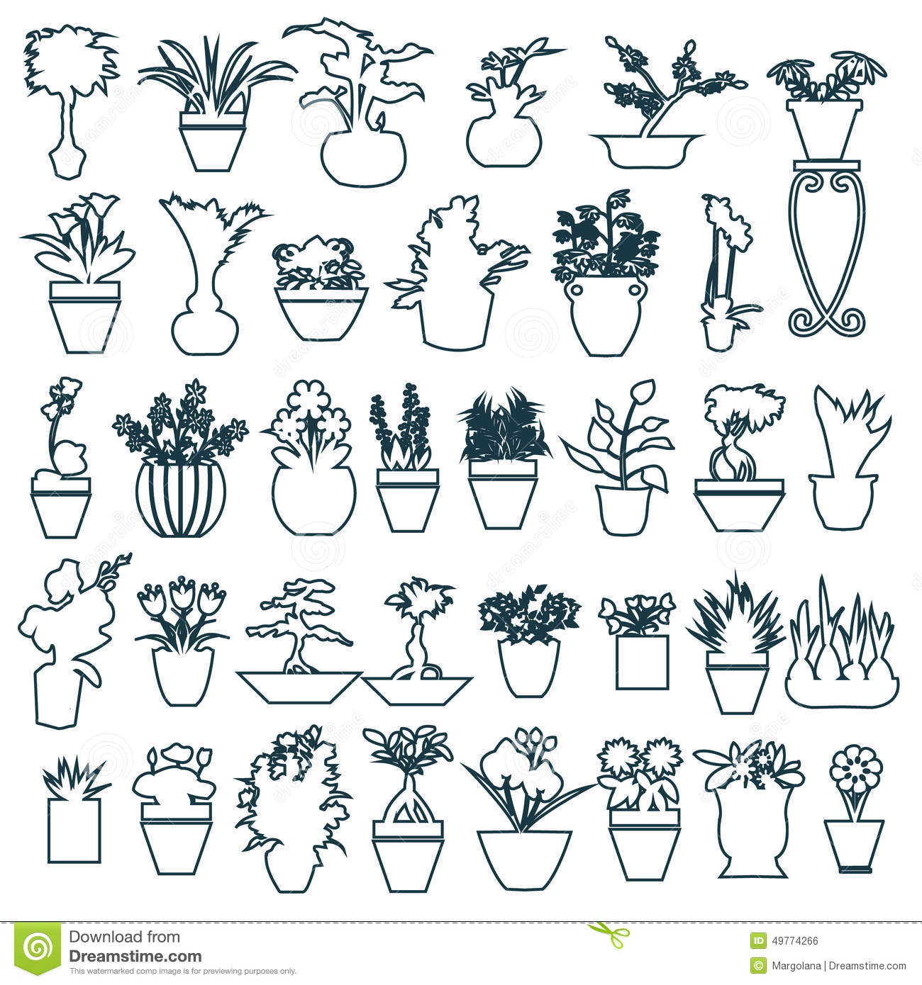 Cute House Plants In Pots Hand