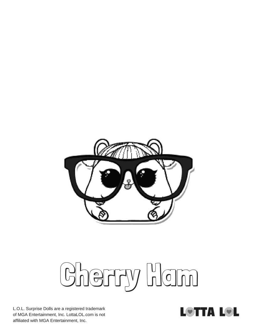 Cherry Ham Coloring Page Lotta Lol