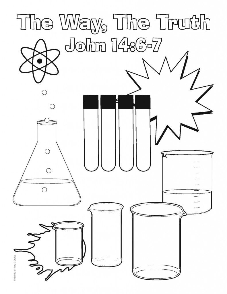 Science Lab Coloring Sheet 1