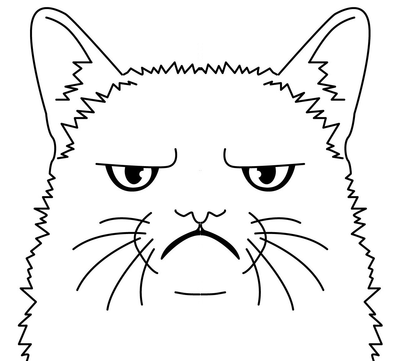 √ Grumpy Cat Coloring Pages Sketch Coloring Page