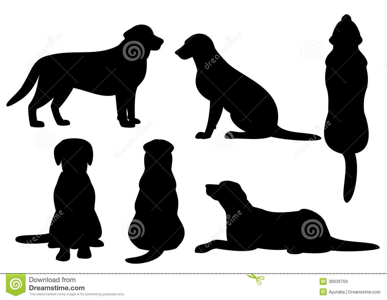Dog Silhouette Set Stock Illustrations – 7,944 Dog Silhouette Set