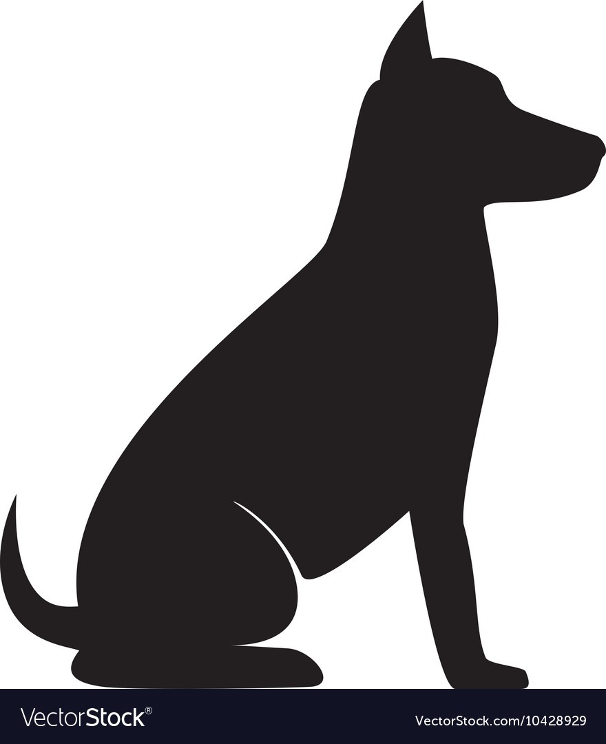 Dog Sit Silhouette Royalty Free Vector Image