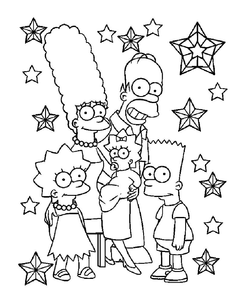 Simpsons  15 (dibujos Animados) – Páginas Para Colorear
