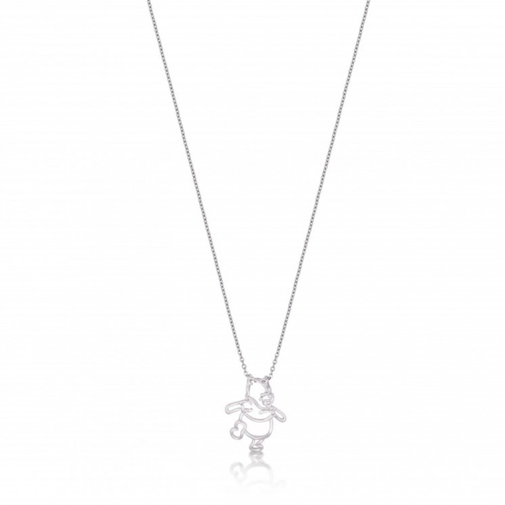 Winnie The Pooh Outline Necklace