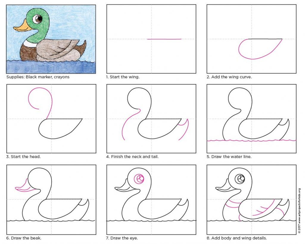 Draw A Duck · Art Projects For Kids