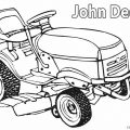 John Deere Combine Coloring Pages