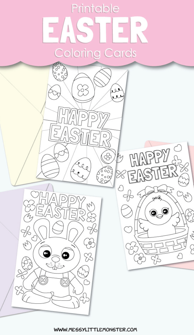 Printable Easter Cards To Colour