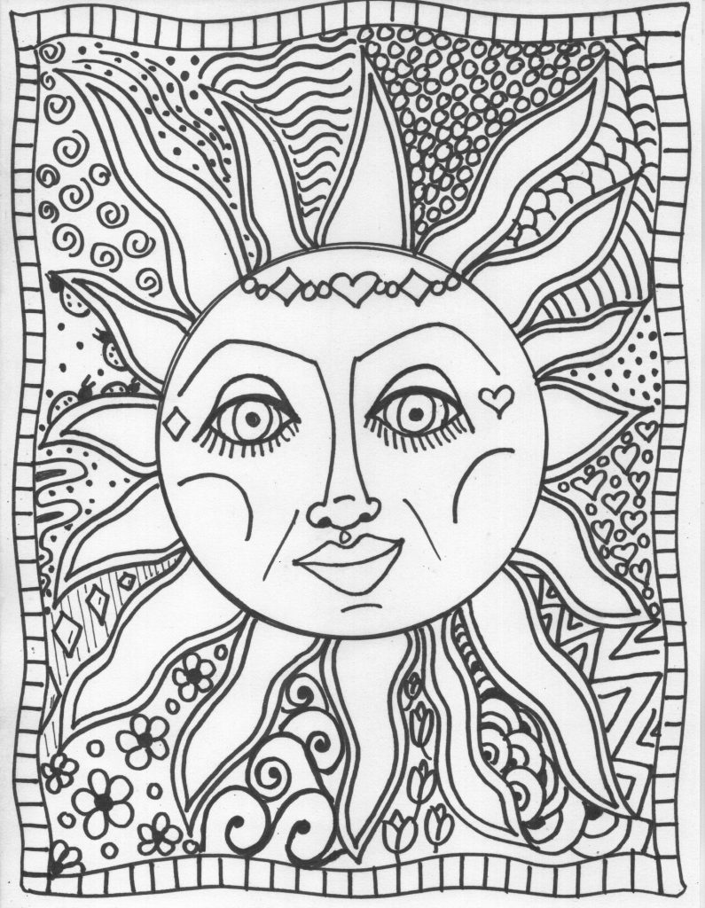 Images Of Tie Dye Coloring Pages