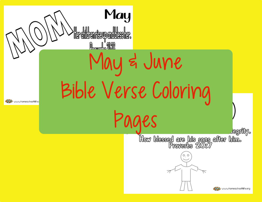 May And June Bible Verse Coloring Pages