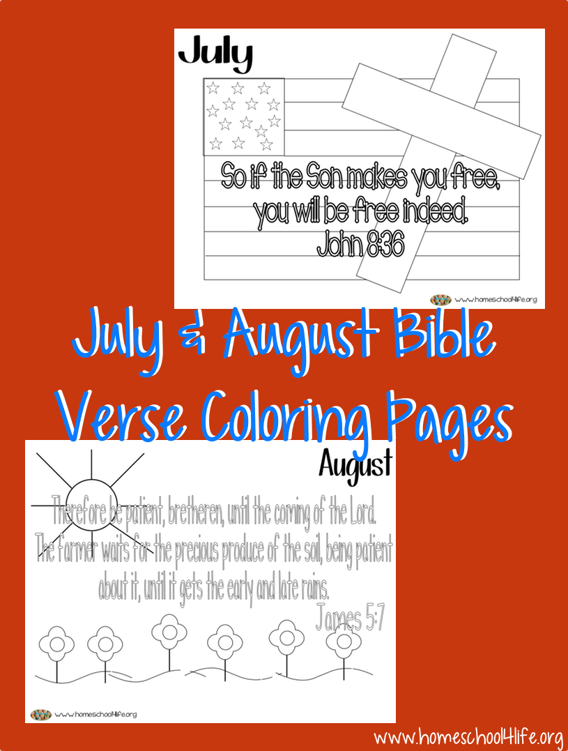 July & August Bible Verse Coloring Pages