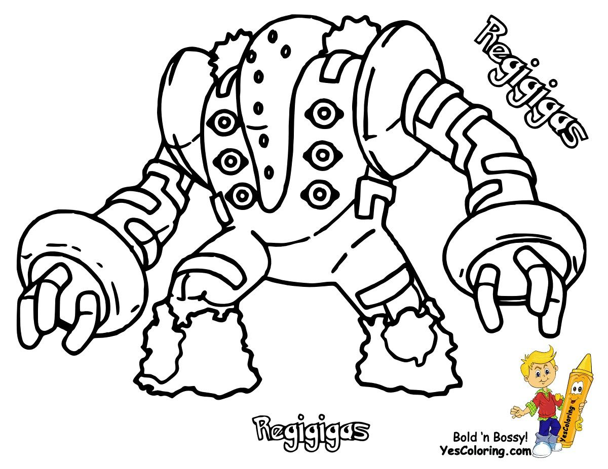 Pokemon Regigigas Coloring Pages – From The Thousands Of Pictures