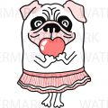 Cute Pug Drawing