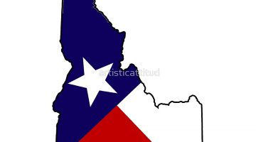 Texas Flag Outline