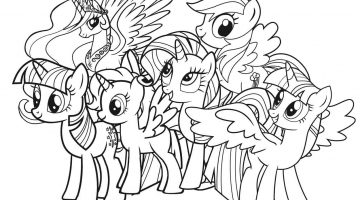My Little Pony Pictures To Print And Colour