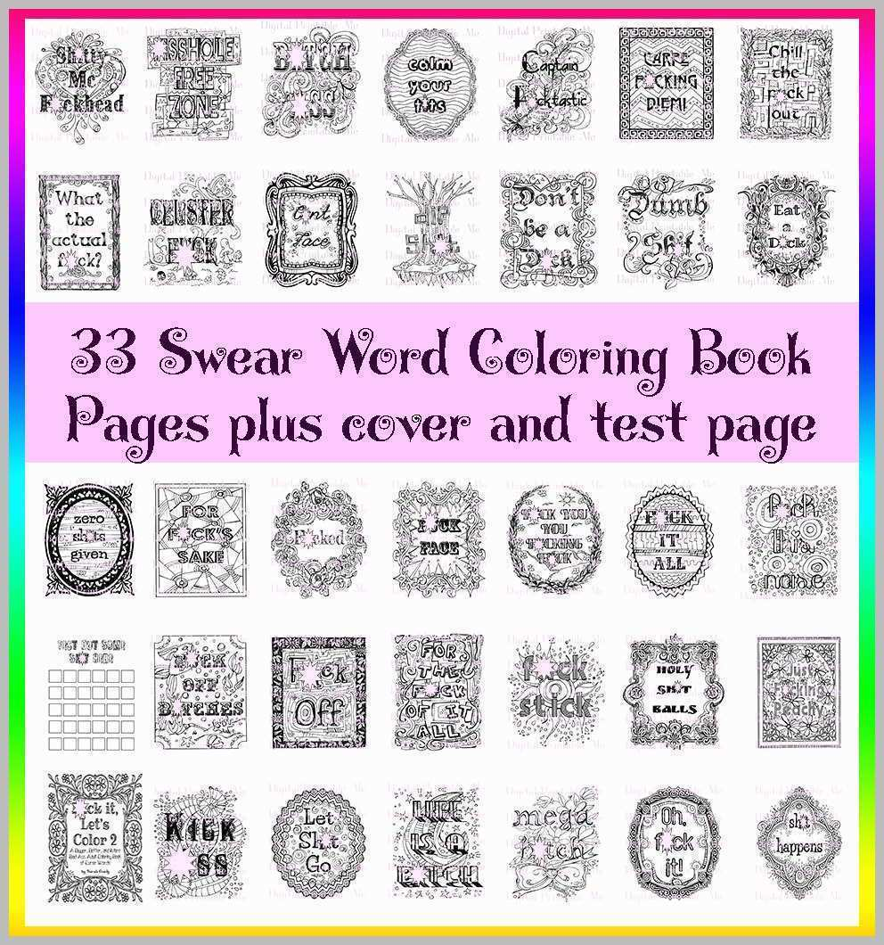 Coloring Pages ~ Free Swear Word Coloring Pages Admirable Book