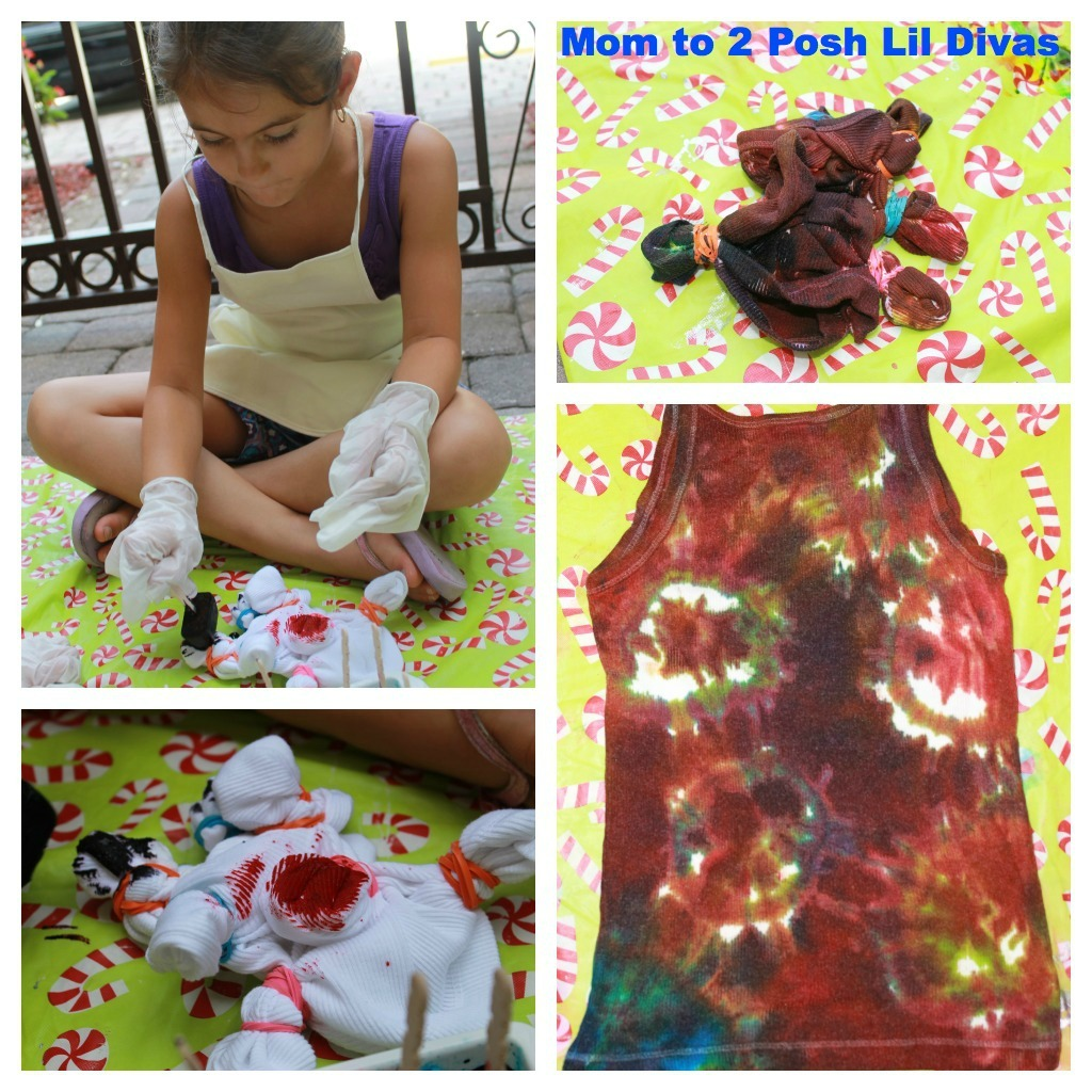 How To Make Tie Dye T Shirts With Food Coloring