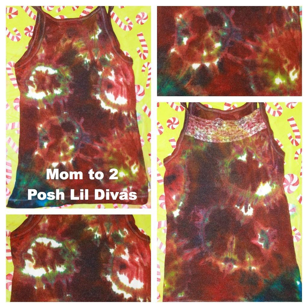 Mom To 2 Posh Lil Divas  Homemade Frozen Food Color Tie Dye Shirts