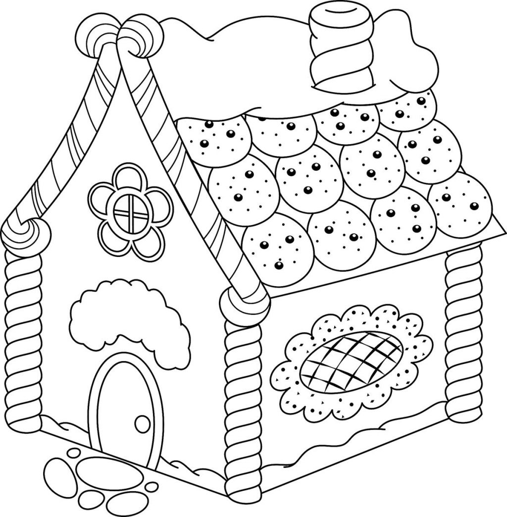 Coloring Pages ~ Gingerbread House Coloring Pages Printable