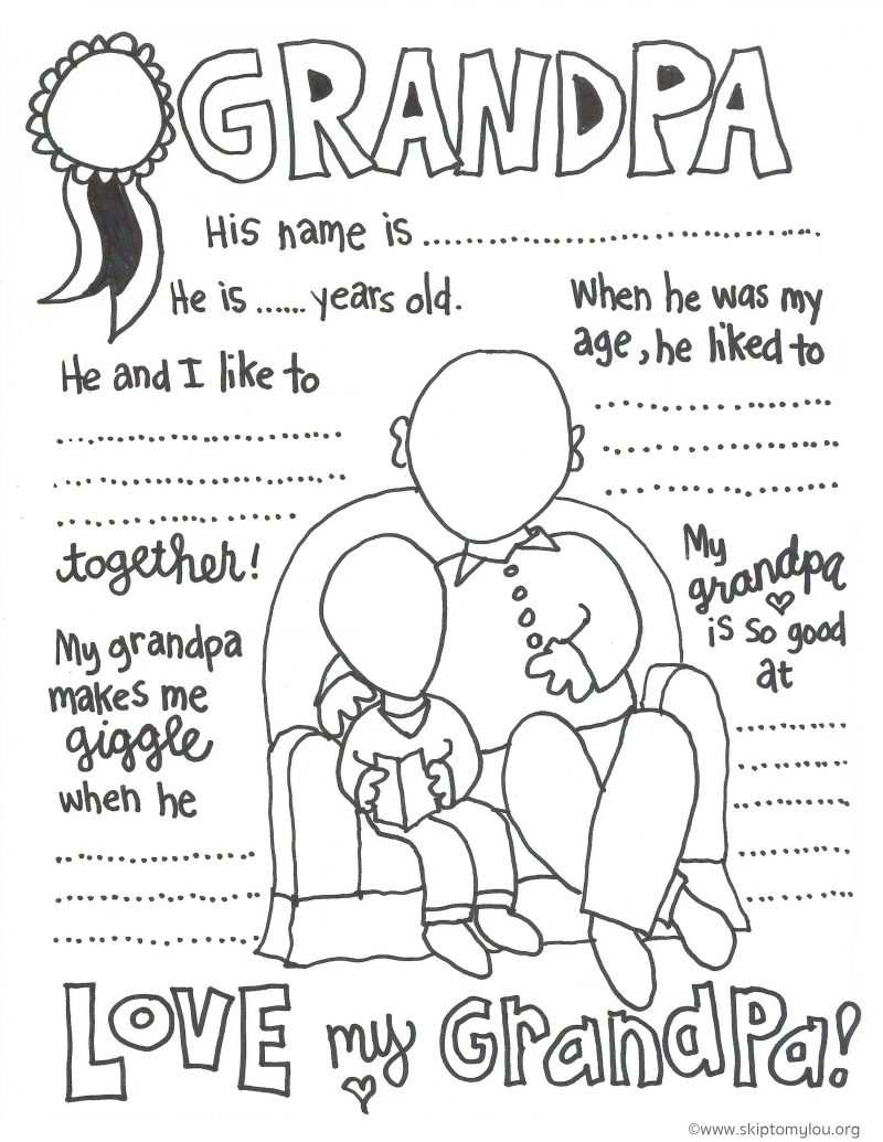 Coloring Pages ~ Coloring Pages Splendi Grandparents Day Sheet