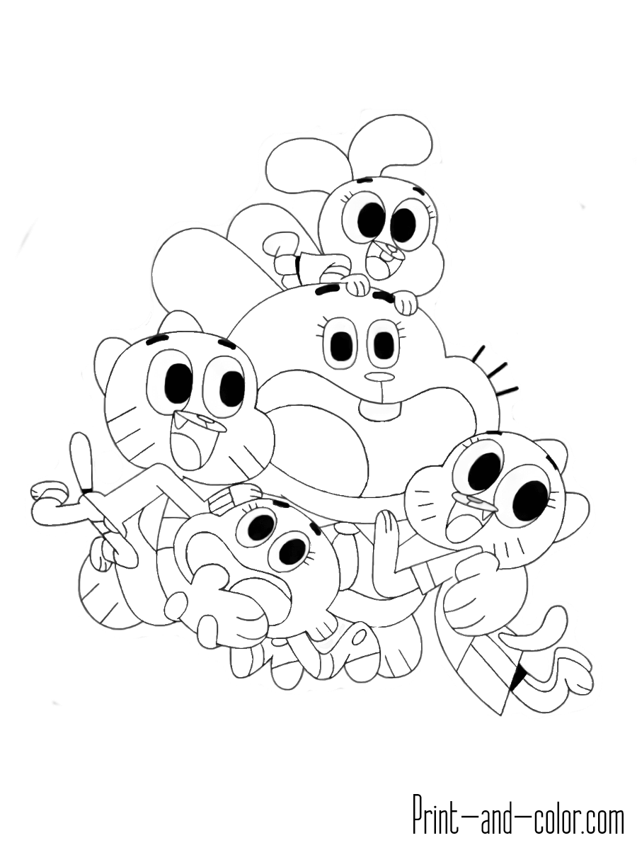The Amazing World Of Gumball Coloring Pages
