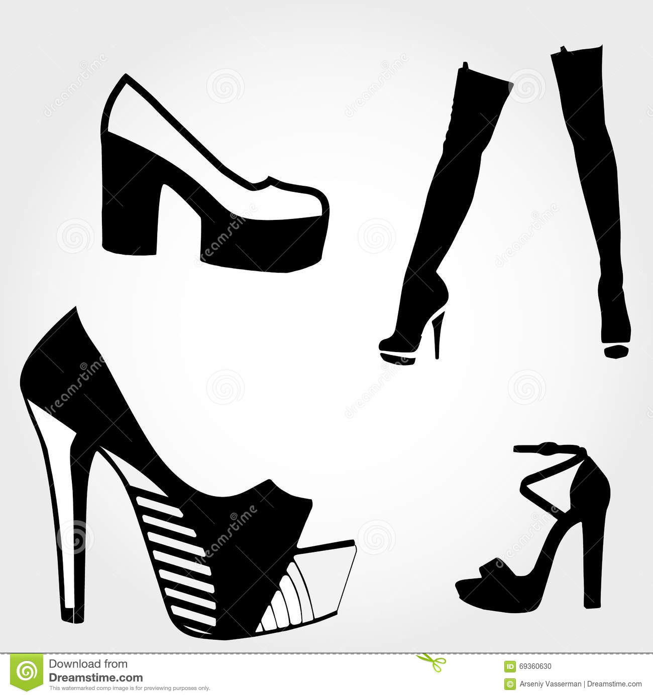 High Heels Silhouette Stock Illustration  Illustration Of Footwear