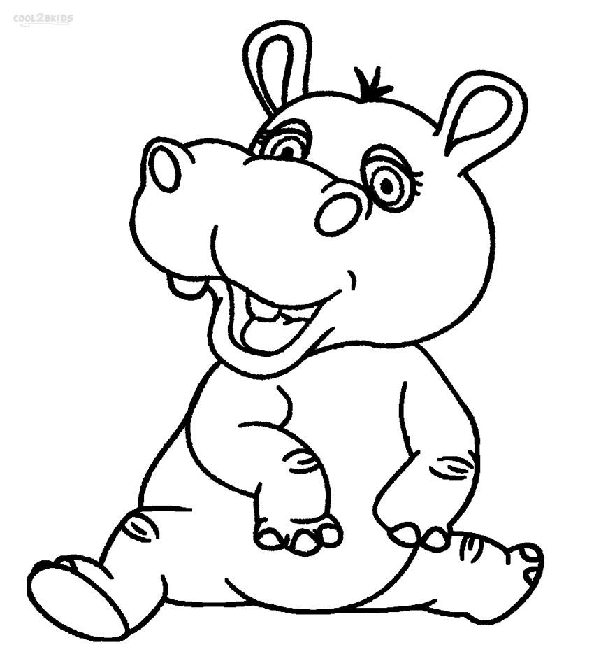 Desenhos De Hipopótamos Para Imprimir E Colorir