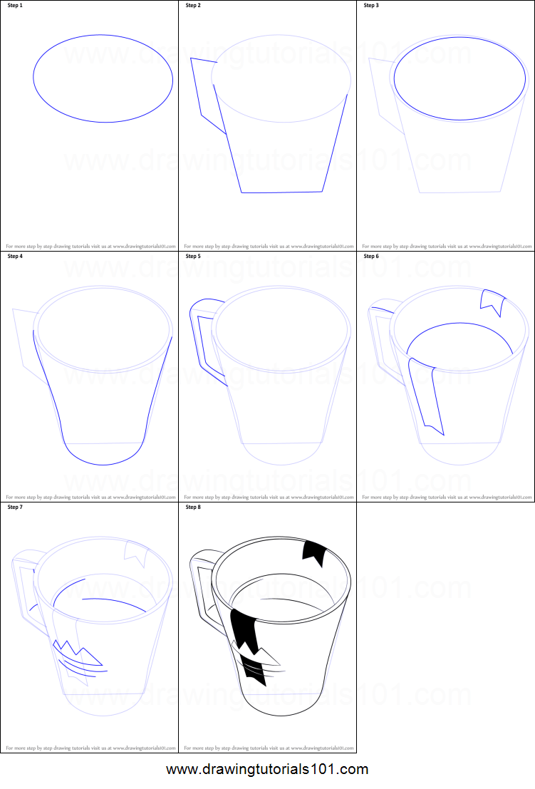 How To Draw A Coffee Mug Printable Step By Step Drawing Sheet