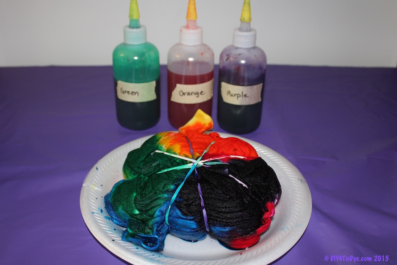 How To Tie Dye A Shirt With Food Coloring Rainbow2