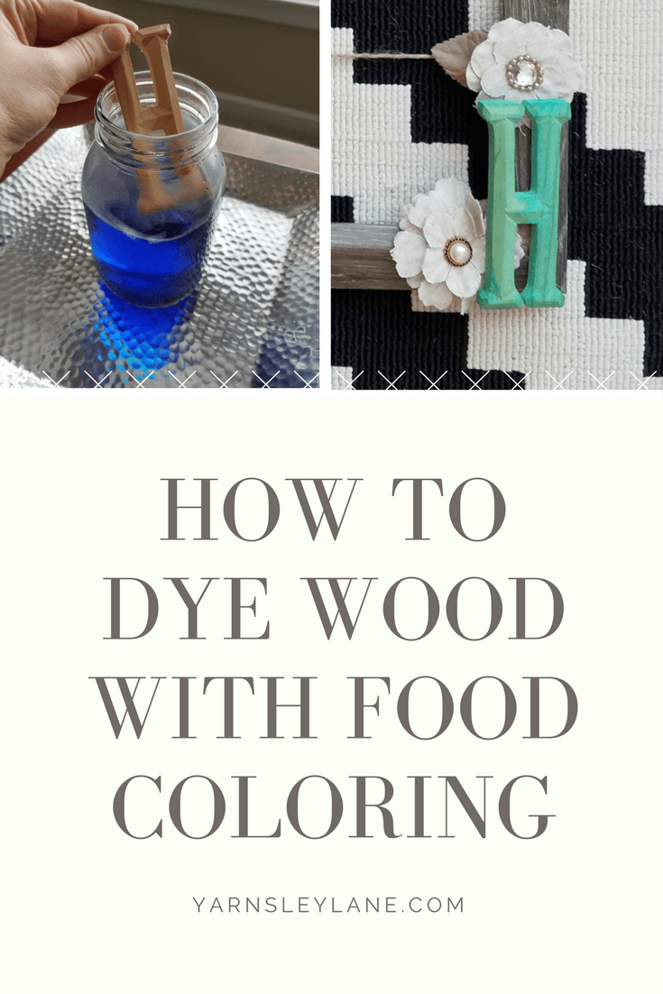 Mini Monday  How To Dye Wood With Food Coloring